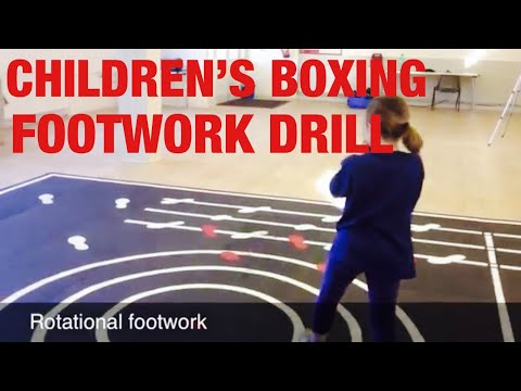 Children's Boxing Footwork Drill