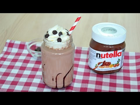 How to Make a Nutella Milkshake - Easy Homemade Nutella Milkshake Recipe