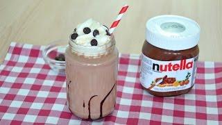 How To Make A Nutella Milkshake Easy Homemade Nutella Milkshake Recipe