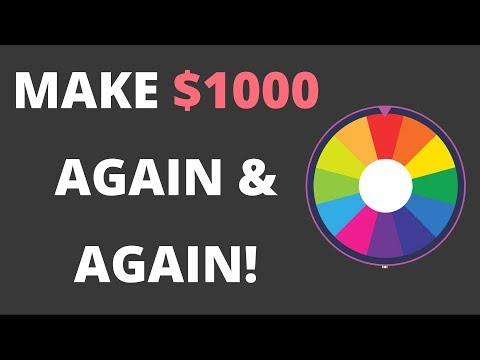 How to Make $1000 Again and Again With A Spin To Win App!! {EASY}