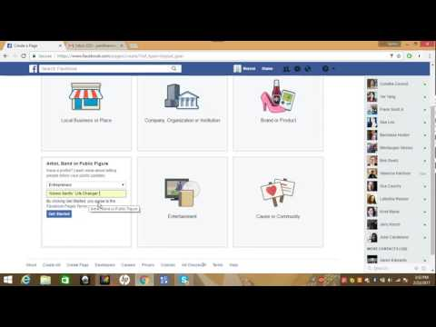 How to create a Facebook fan page (2017)