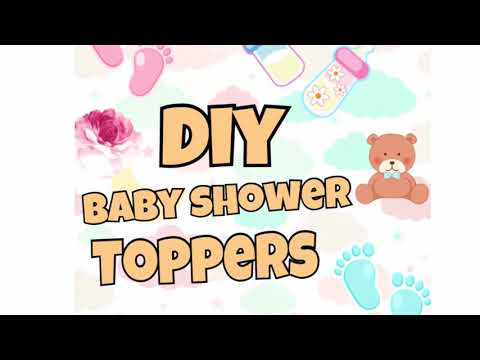 DIY Baby Shower Toppers. Use for decorating cake pops, cupcakes, chocolate Oreos etc.