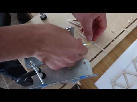 How to accurately cut sticks at an angle for a balsa wood bridge