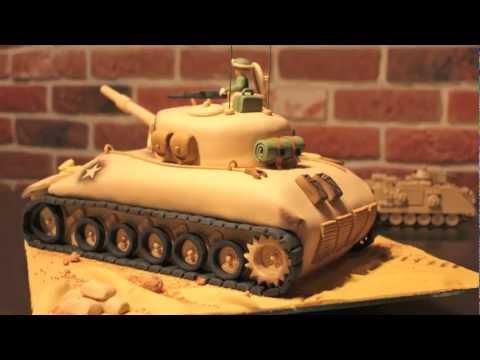 Military Tank Cake