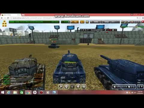 Tanki Online small football game in  'Stadium Ctf ' with my friends