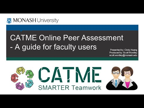CATME Online Peer Assessment - A guide for Faculty Users