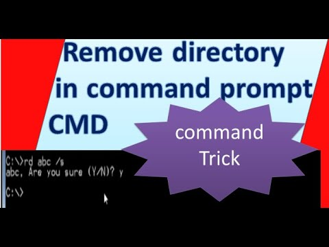 how to remove directory in cmd with example
