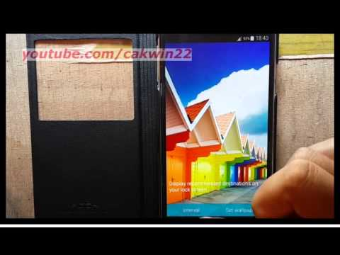 Samsung Galaxy S5 : How to change lock screen wallpaper (Android Phone)