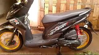 Foto Modifikasi Beat Fi Warna Hitam Honda Beat