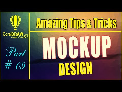 Coreldrw x7 - Amazing Tips & tricks - How to Create Mockup Design for Youtube - Facebook - etc