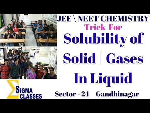 Solubility Of Solid | Gases In Liquid | CHEMISTRY | JEE | NEET | IIT | By Chintan Sir