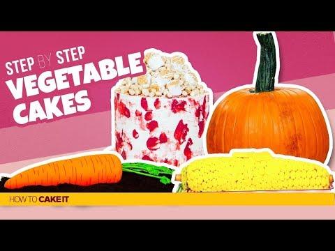 4 Fresh Veggie CAKES | Compilation | How To Cake It
