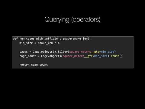 MongoDB and Python Quickstart (19/21): Concept: Query using operators