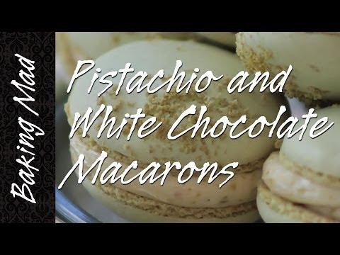 Baking Mad Monday: Pistachio and White Chocolate Macarons