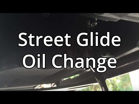 How To Change Harley Davidson Oil And Filter On Street Glide.