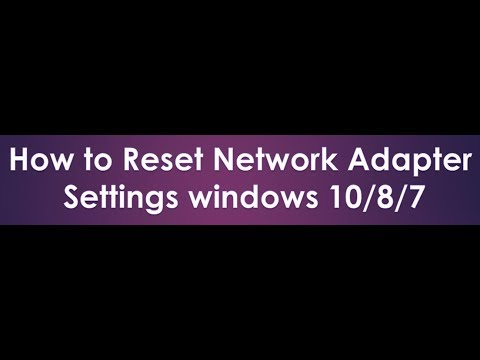 how to reset network settings windows 10