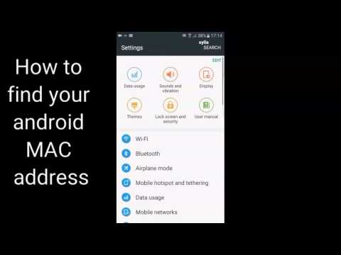 How to find your MAC address on Android