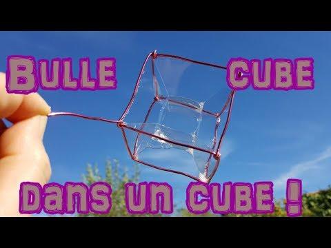 Comment faire une bulle de savon en forme de cube ? Tuto