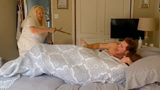 """SLEEPING"" In Grandmoms BED Prank"