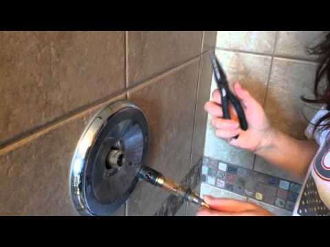 Mom fixes leaky shower faucet