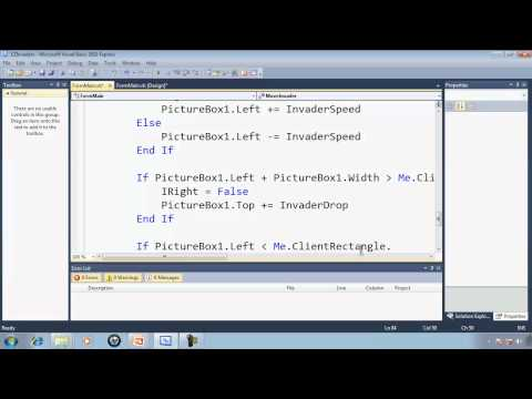 Visual Basic Express 2010 Tutorial 36 Invading Earth - EZInvaders Part 5 Game