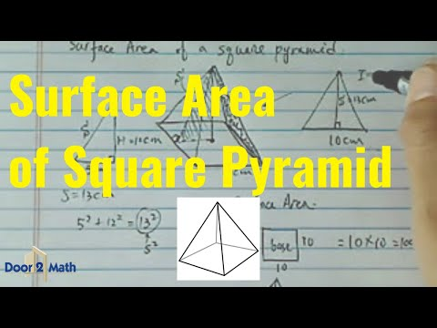 *^Surface Area of Square Pyramid: height is 12cm , the slant line is 13cm, and the base is 10cm