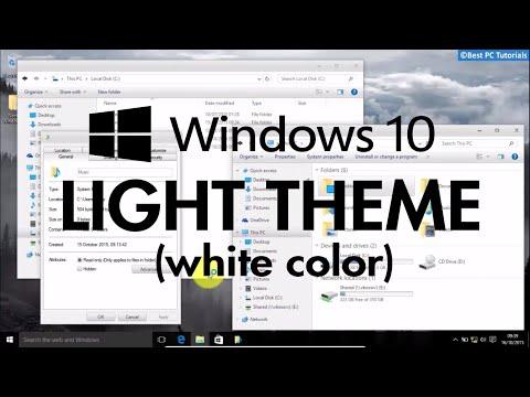 Windows 10 - Light White Theme (Nome Theme)