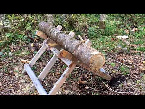 Easy Chainsaw Sawbuck Made Form 2X4's - Cheap How To DIY Project - Cut Firewood