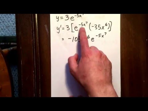 1 derivative of an exponential function