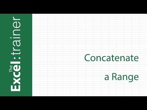 Excel: How to Concatenate a Range (without using VBA)