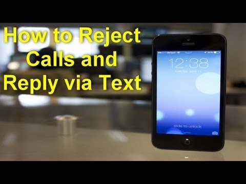 How to reject an incoming by replying back with a text message in iOS 7