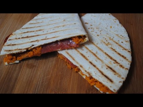 SWEET POTATO + CHORIZO QUESADILLAS - Student Recipe