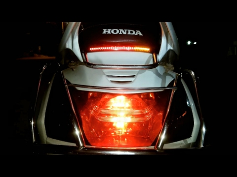 How to install back led strips with brake light and side indicators for all scooters and motorcycle
