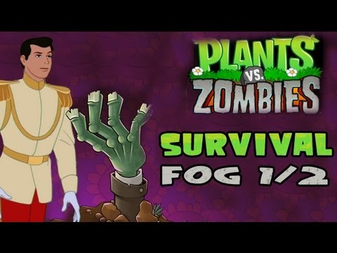 Plants V. Zombies [HD] [7] [Survival] - Fog 1/2