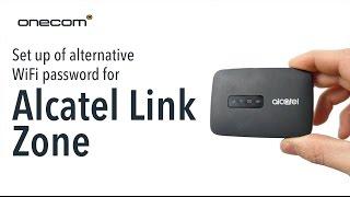 Set Up Of Alternative WiFi Password for Alcatel Link Zone