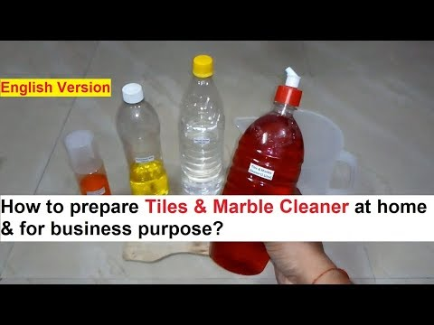 Tiles & Marble Cleaner Making 100% Real Formula