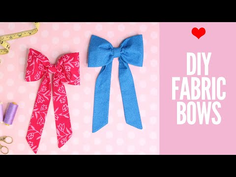 DIY Fabric Bow | How to Make Fabric Bows