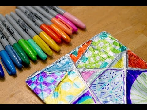 Kids Activity: Aliminum Foil Zentangle Tutorial (By Kids For Kids)
