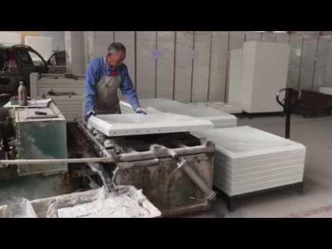 Fiberglass water tank board perforated