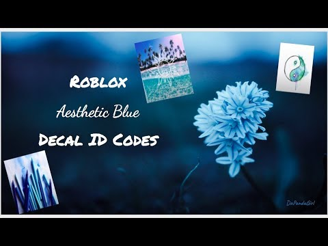 Roblox Aesthetic Blue Decal ID Codes