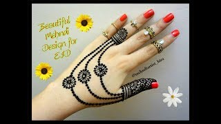 Eid  2017 special mehndi design || Easy latest Best jewellery mehndi designs for hands tutorial