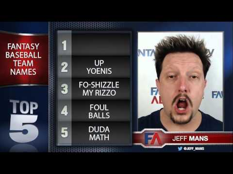 Top 5 - Best Fantasy Baseball Team Names