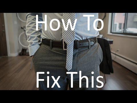 How To Shorten/Tailor A Tie