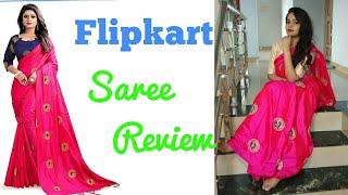fcddd146fc Flipkart Rola Trendz Self Design Royal blue Saree |Must buy Saree ...