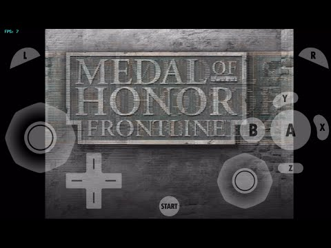 gamecube for ios- Medal Of Honor Frontline (Intro,Menu,Game Loading Test) dolphin emulator for ios