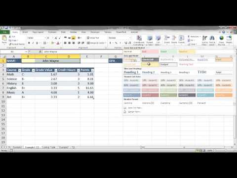Calculate Grade Point Average (GPA)
