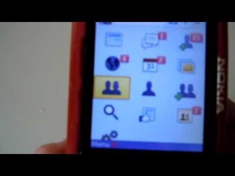 Facebook running on Nokia Xpressmusic 5700