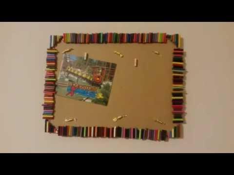 DIY memo board picture frame