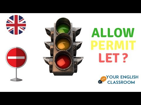 Allow, Permit or Let ?? Learn English Grammar