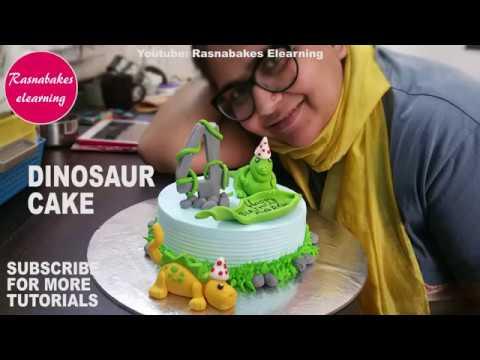 Dinosaurs:Kids Birthday Cake